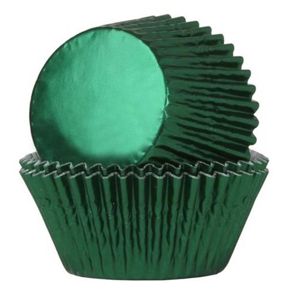 Bilde av Dyp Grønn, Folie, Muffinsformer, 24 stk