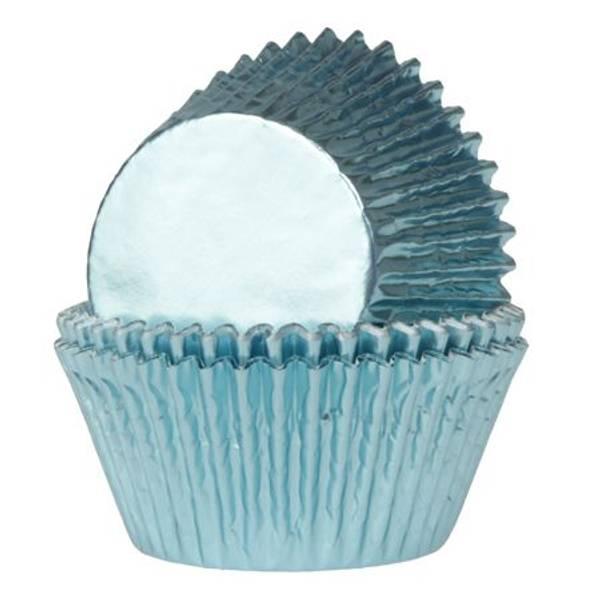 Bilde av Baby Blå Folie, Muffinsformer, 24 stk
