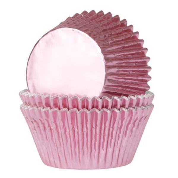 Bilde av Baby Rosa Folie, Muffinsformer, 24 stk