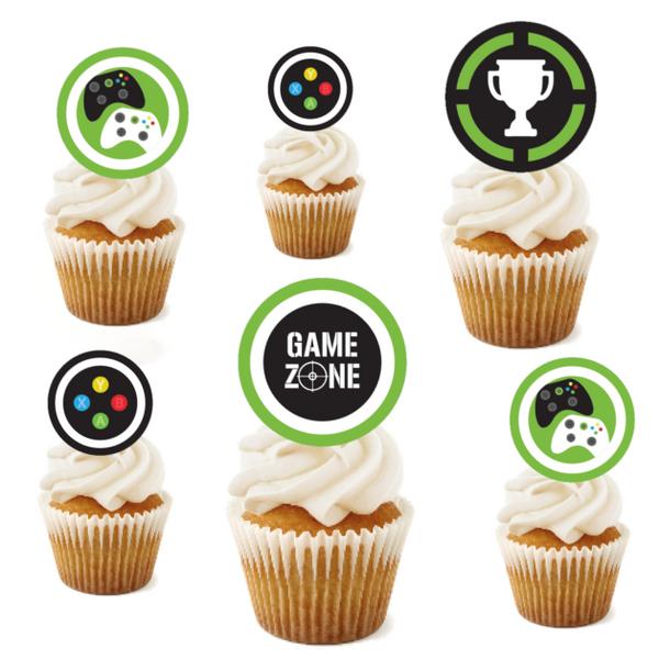 Bilde av Gaming Zone, Muffinsbilder, Grønn, 12stk