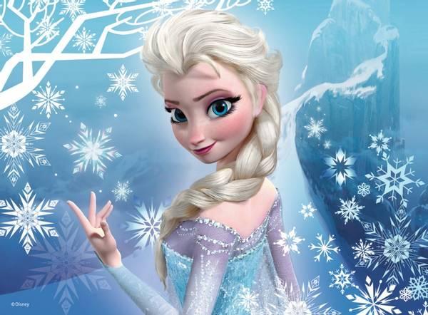 Bilde av Frost Elsa, Kakebilde, Sukkerpapir, A4