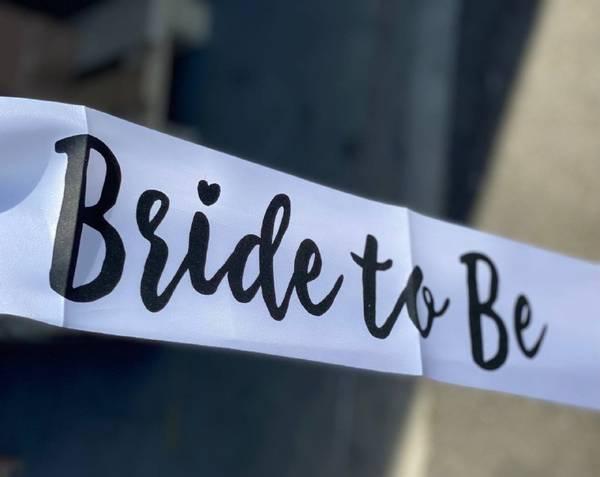 Bilde av Bride To Be Bånd, Hvit