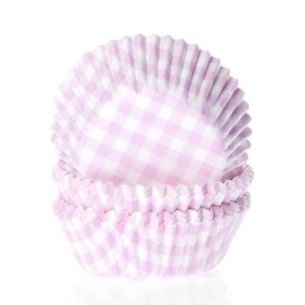Bilde av Gingham Rosa, Mini, Muffinsformer, 60 stk