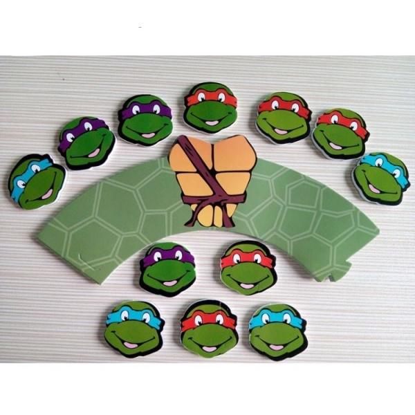 Bilde av Ninja Turtles Cupcake Wrappers, 12 stk