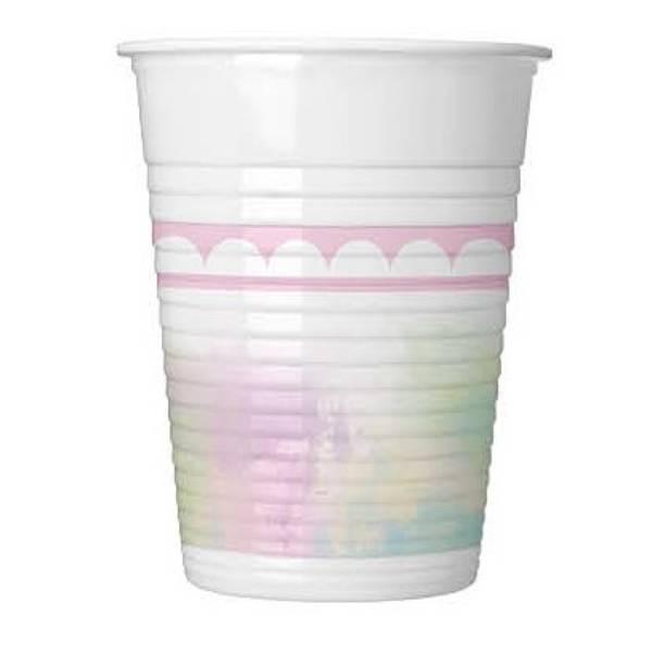 Bilde av Pastellfarget Enhjørning kopper, 8 stk