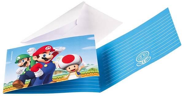 Bilde av Super Mario Innbydelseskort 2, 8 stk