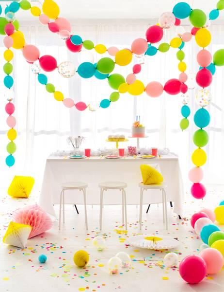Bilde av Girlander Med Fargerike Ballonger