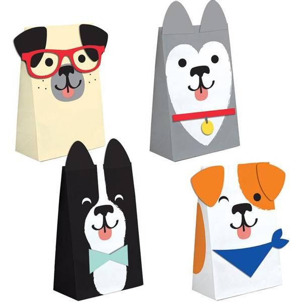 Bilde av Hundefest,Papirposer , 8 stk