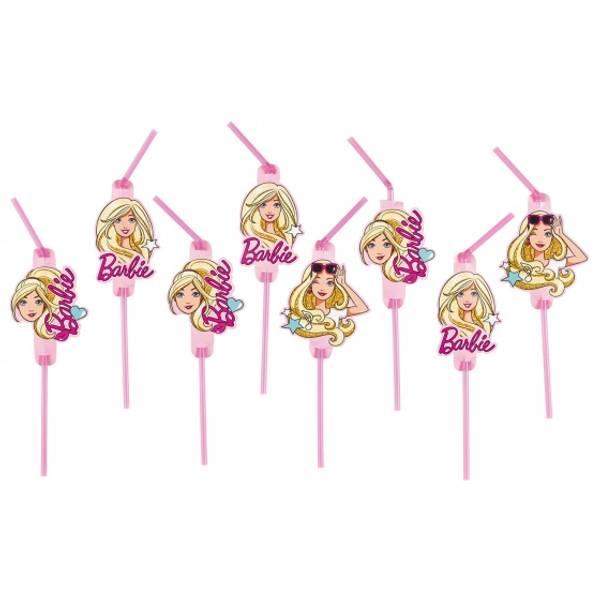 Bilde av Barbie Popstar, Sugerør, 8 stk