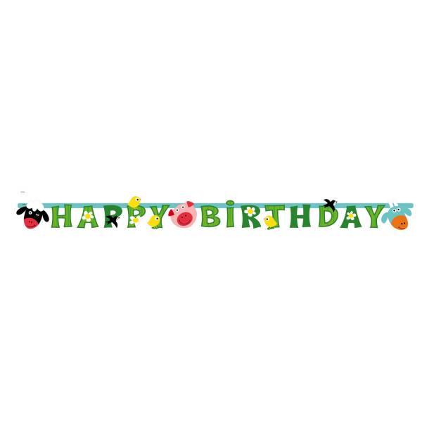 Bilde av Bondegård, Banner, Happy Birthday