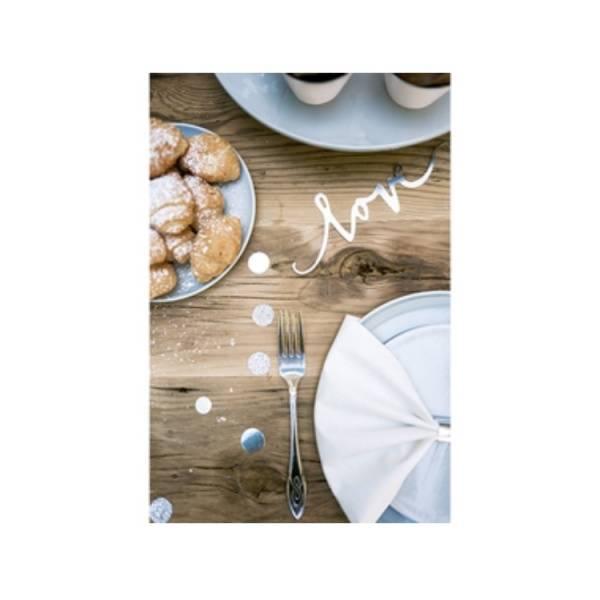 Bilde av Elegant konfetti i sølv og hvitt