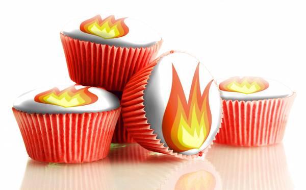 Bilde av Spiselige Flamme, Muffunsbilder, 12 stk