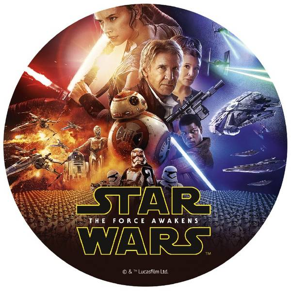 Bilde av Star Wars, Kakebilde 3, Sukkerpapir, 20 cm