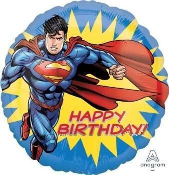 Bilde av Superman Happy Birthday Folieballong, 43 cm
