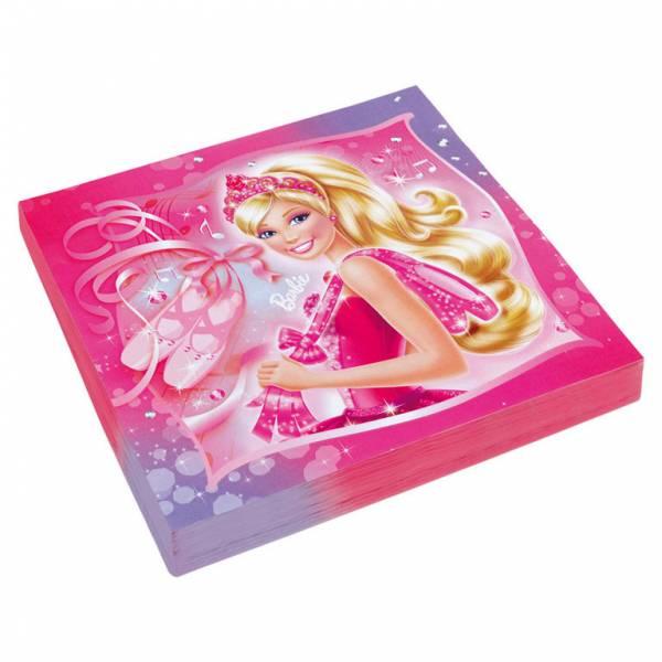 Bilde av Barbie Ballerina, Servietter 20 stk