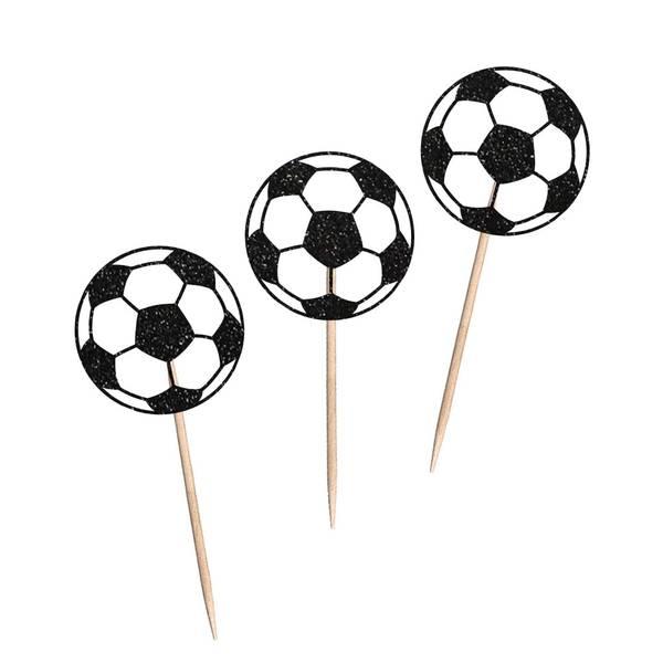 Bilde av Fotball Cupcaketoppere, 8 stk