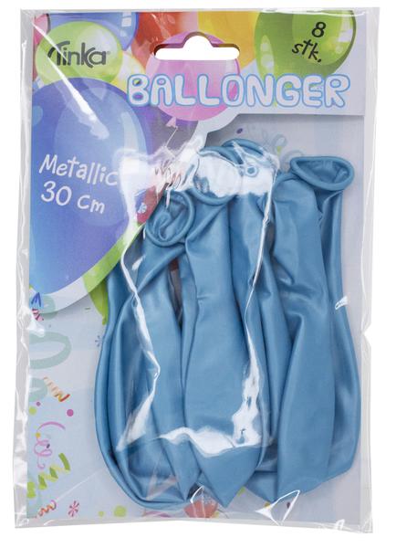 Bilde av Metallic Ballonger Lys Blå, 8 stk