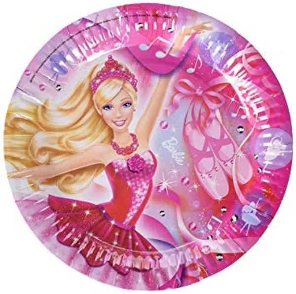 Bilde av Barbie ballerina, Tallerken 8 stk