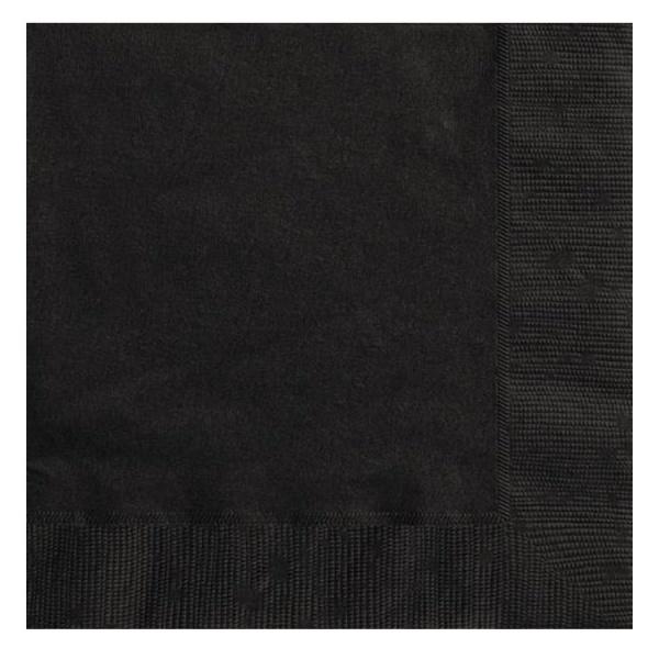 Bilde av Svarte Servietter 20 stk
