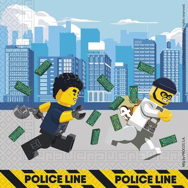Bilde av LEGO City, Servietter, 20 stk