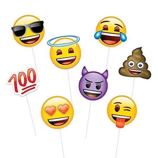 Bilde av Emoji Photo Props, 8stk