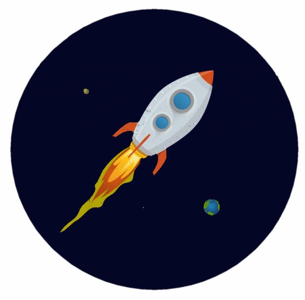 Bilde av Rakett, Kakebilde, 20cm