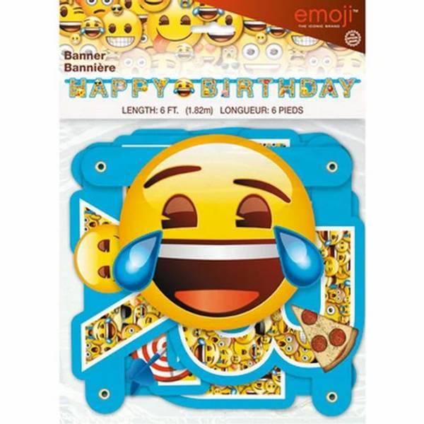 Bilde av Emoji Banner Happy Birthday