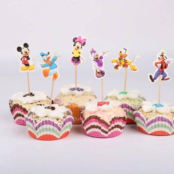 Bilde av Mikke Mus og Vennene cupcake toppers, 8 stk