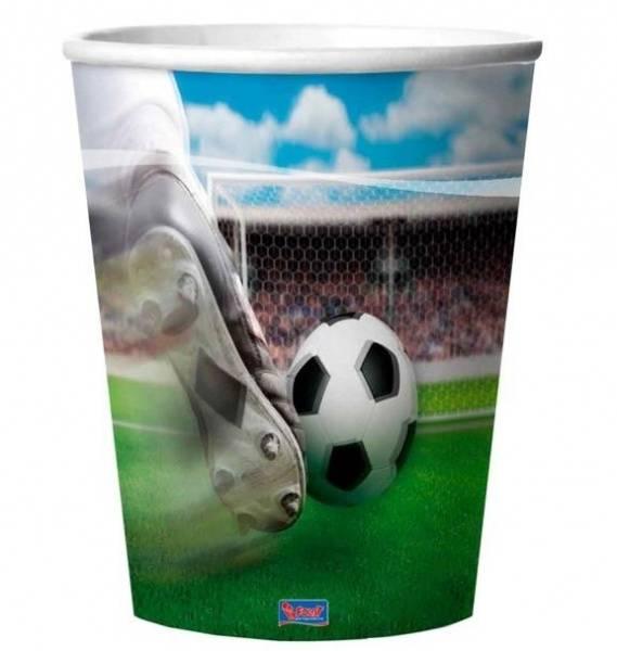 Bilde av 3D Fotball Plastkopper 4stk