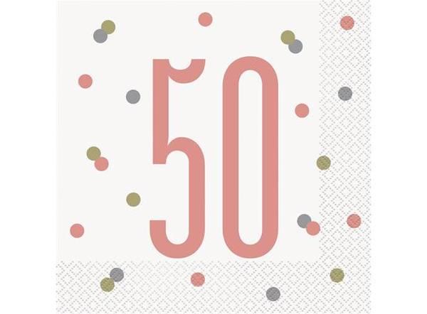 Bilde av Rosegull 50 År Servietter