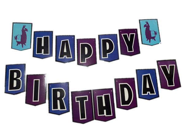 Bilde av Fort Lama Happy Birthday Banner