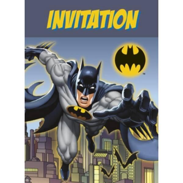 Bilde av Batman Invitasjoner 8stk