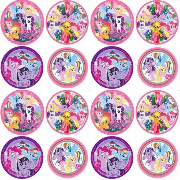 Bilde av My little Pony, Cupcakebilder, 16stk