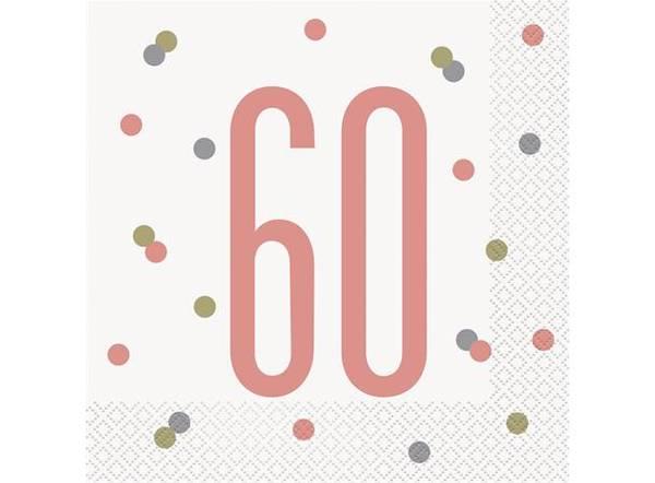 Bilde av Rosegull 60 År Servietter