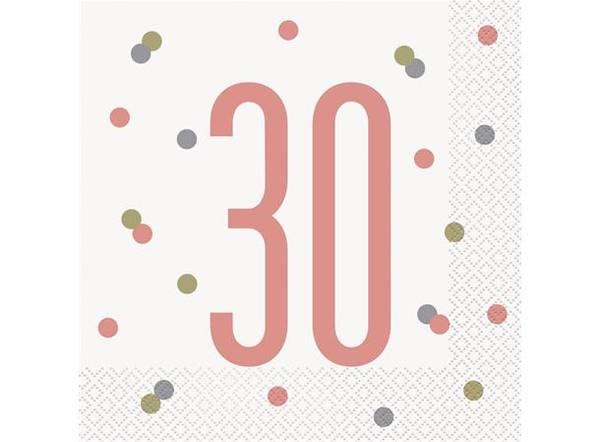 Bilde av Rosegull 30 År Servietter