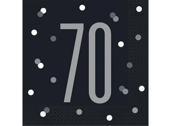 Bilde av Sølv 70 År Servietter