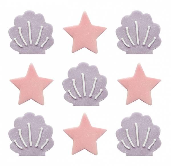 Bilde av Sukkerpynt, Havfrueskjell og Stjerner