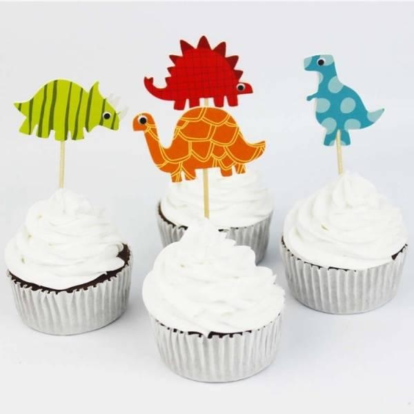 Bilde av Dinosaur Cupcake Toppers, 8 stk