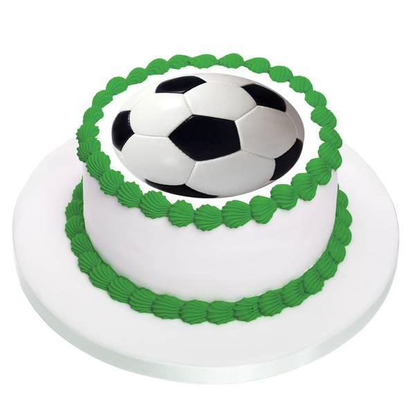 Bilde av Fotball, Kakebilde, Sukkerpapir, 20 cm