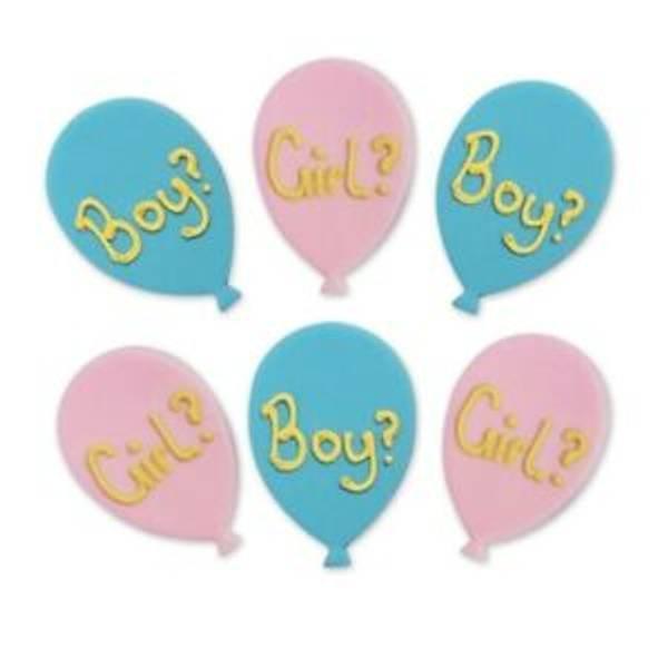 Bilde av Sukkerpynt, Boy or Girl Ballonger, 6 stk