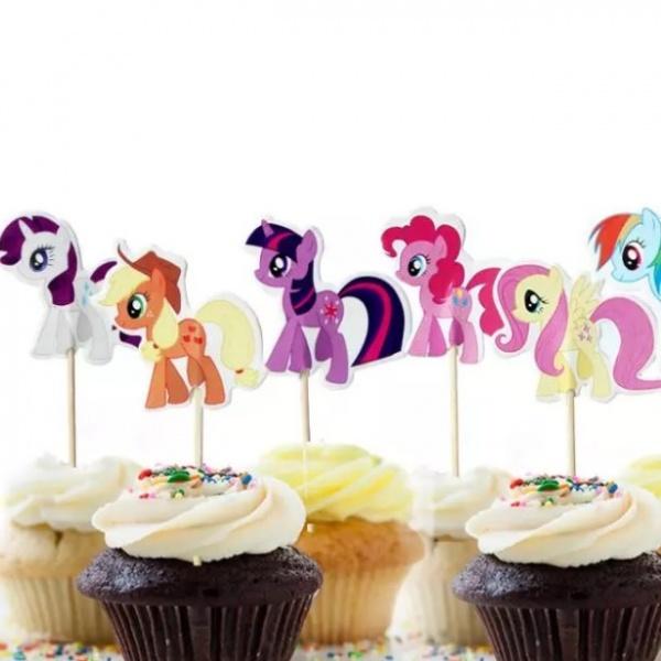 Bilde av My Little Pony, Cupcake toppers, 8 stk