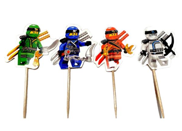 Bilde av Ninja Lego, Cupcake toppers, 8 stk