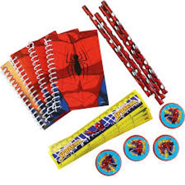Bilde av Spiderman Sett med skrivesaker, 4 deler