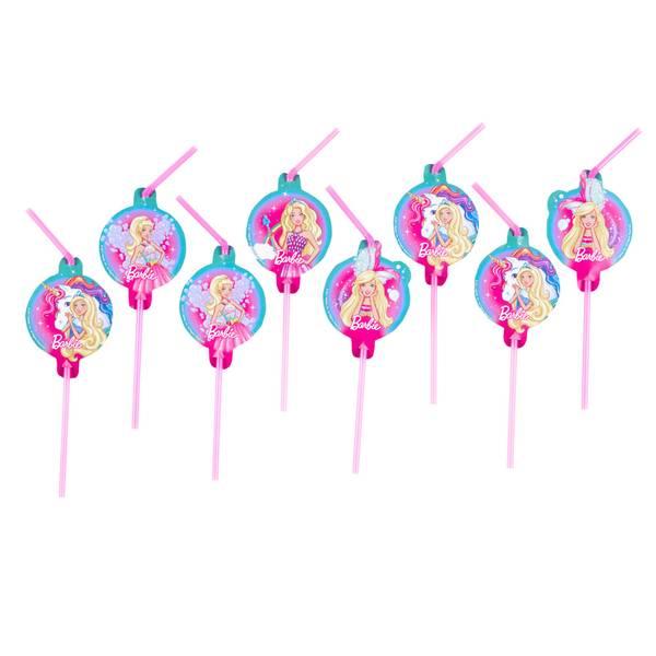 Bilde av Barbie, Sugerør, 8 stk