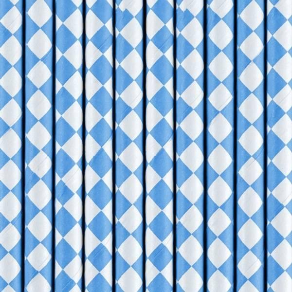 Bilde av Papirsugerør, Ruter Blå