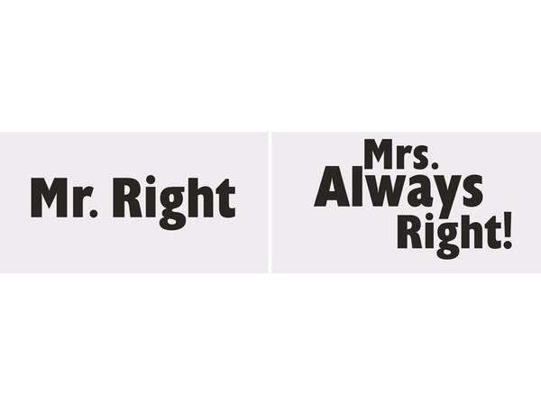 Bilde av Fotorekvisitter, Mr Right/Mrs Always Right