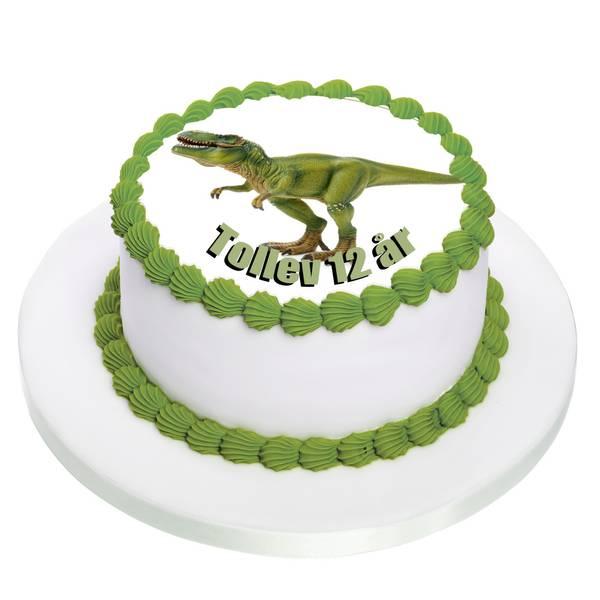 Bilde av Dinosaur Kakebilde, Sukkerpapir, 20 cm