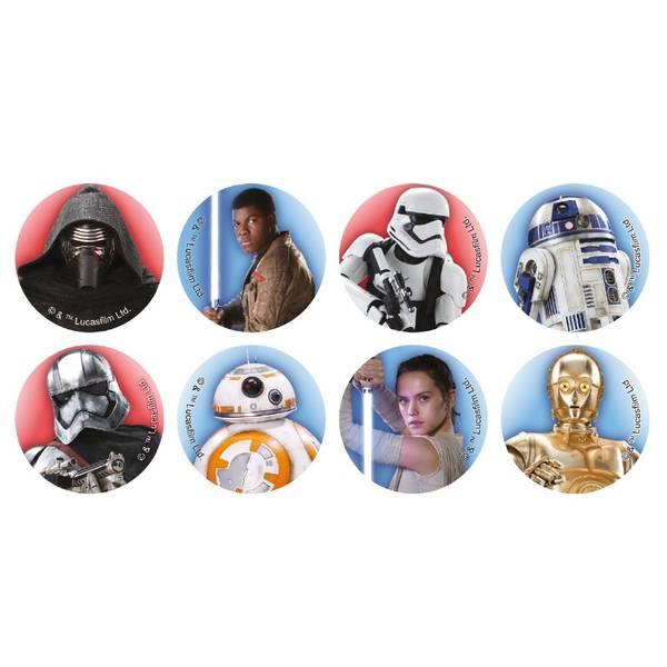 Bilde av Spiselig Star Wars Cupcakebilder, 16 stk