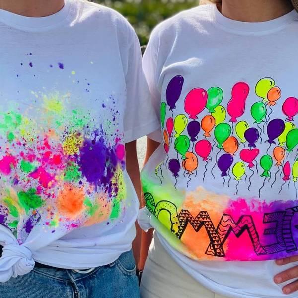 Bilde av Mal din egen SOMMER T- Skjorte 9-11 år -Ink. Tekstilmaling og Tu
