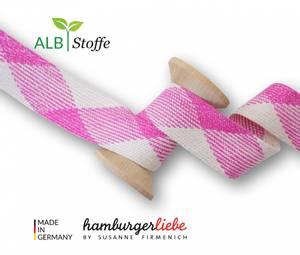 Bilde av 34mm Hoodie bånd Albstoffe glitter rosa